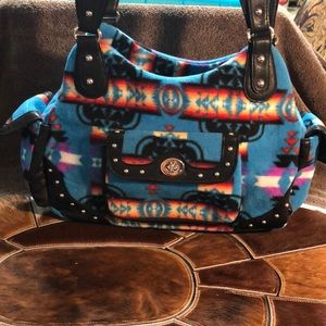 Native Design Fabric Handbag